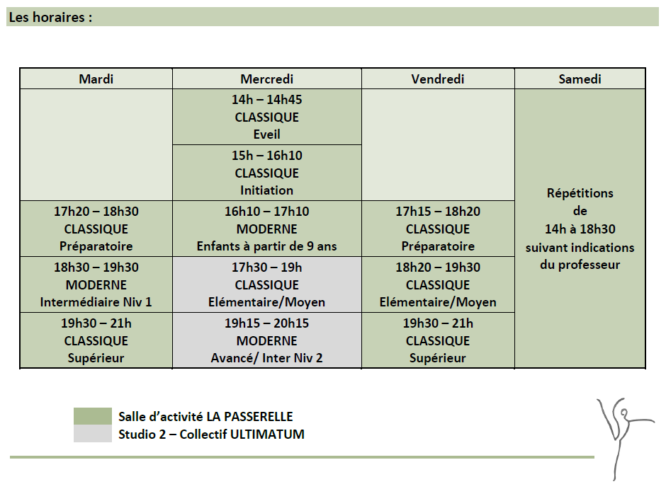 Horaires 2019 2020